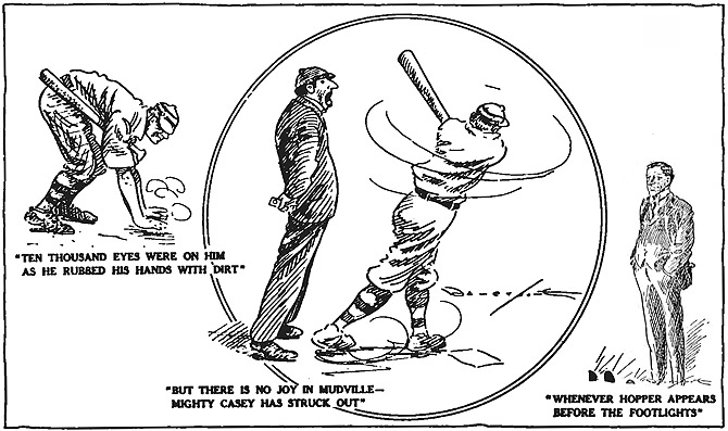 Casey at the Bat - illustration by Davenport